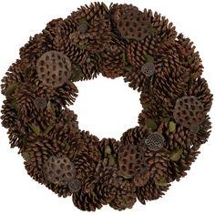 Mixed Pinecone Wreath