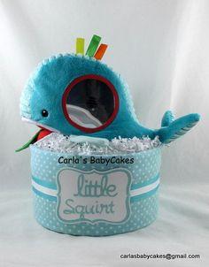 Whale diaper cake Baby Diaper Cake Gender by MsCarlasBabyCakes