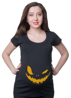 Maternity Top T-Shirt Scary Halloween T-Shirt  Pumpkin T shirts Mom Funny Maternity T Shirt Baby Sho