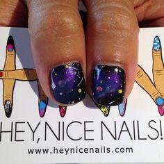 More galaxy nails...