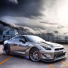 #Nissan #GTR #Stance #Modified #SuperCar #Luxury #ExoticAutomotive #Grey
