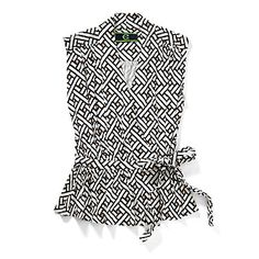 Just fell in love with the Printed Tie Waist Wrap Top for $54.1 on C. Wonder! Click on the image and receive 20% off your next full-price purchase and find something you love too!