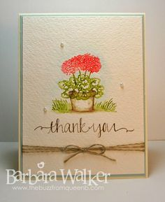 The Buzz: Watercolor for Cardmakers Class ~ Lesson Two...watercolor stamping.