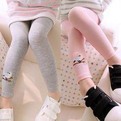 Girl Summer Candy Couleur Leggings Enfants Dentelle Belle Stretching sept Bottoms