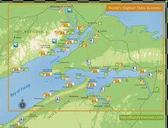 World's Highest Tides Ecozone map