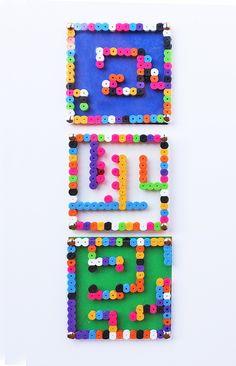 DIY Toy: Perler Bead Mazes - Babble Dabble Do