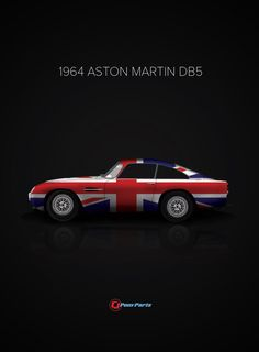 Classic Cars and Their Country of Origin Poster Series - Aston Martin DB5