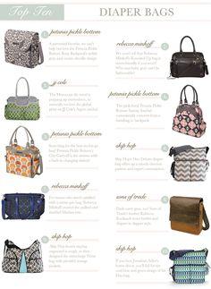 Top 10 Diaper Bags @Sarah Nasafi Grayce #laylagrayce #favorite #diaperbags #topten #lgblog