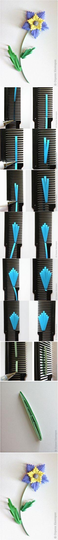 DIY Quilled Flower with Comb | www.FabArtDIY.com LIKE Us on Facebook ==> https://www.facebook.com/FabArtDIY