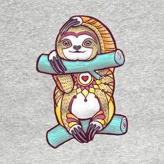 Awesome 'Mandala+Sloth' design on TeePublic!