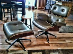 Eames Lounge Chair Eames, My House, Lounge, Flooring, Chair, Furniture, Home Decor, Airport Lounge, Drawing Rooms