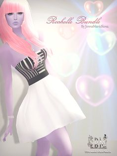 EB Magazine and model xRozePetalzx would like to present the stunning Rochelle Bundle made by sponsor and IMVU creator JennaMarieSienna http://www.imvu.com/shop/product.php?products_id=35519058