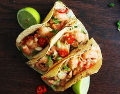Scrumptious Shrimp tacos with Thai red curry sauce, cabbage-scallion slaw and crunchy roasted peanuts/cashews. This recipe is a twist on my family favorite Thai Shrimp Noodle Soup! We love this rec…