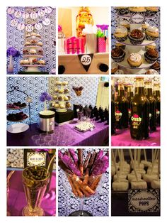 My 25th birthday purple and black themed party