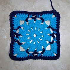 """""""There is no gauge or hook size specified because each Granny Square can be worked in your choice of yarn or thread to vary the size and appearance of the design."""""""