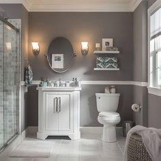 grey bathroom paint gray bathroom ideas best light grey bathrooms ideas on white bathroom paint grey bathrooms inspiration and dulux coastal grey bathroom paint Grey Bathroom Paint, Grey Bathroom Cabinets, Gray And White Bathroom, Gray Paint, Grey Cabinets, Royal Bathroom, Kitchen Cabinets, Small Grey Bathrooms, Small Bathroom Colors