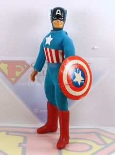 """Mego Captain America Boots Reproduction For 8"""" Action Figure WGSH Parts Lot"""