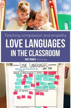 Easy tips to use Love Languages to teach compassion and empathy in an elementary classroom - great for character building with my students!
