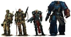 Soldiers of The Imperium: Imperial Guard, Sisters of Battle, Crimson Fist Space Marine. Warhammer 40k Art, Warhammer Models, Warhammer Fantasy, Tyranids, The Grim, Starcraft, Space Marine, Best Sci Fi, Sci Fi Fantasy