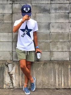SURT × marbles Boat Shoes Outfit, Short Outfits, Summer Outfits, Shoes Without Socks, Streetwear, Men Casual, Industrial, Mens Fashion, My Style