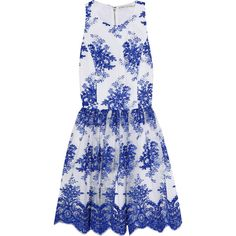 Alice + Olivia Reggie silk-embroidered tulle mini dress (730 CAD) ❤ liked on Polyvore featuring dresses, blue, embroidered mini dress, short dresses, embroidery dress, white embroidered dress and tulle mini dress