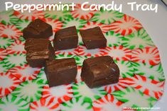 Peppermint Candy Trays - And Fluted Bowls Too