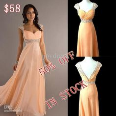 Wholesale Bridesmaid Dress - Buy 2013 IN Stock High Quality Floor Length Chiffon Prom Evening Bridesmaid Dresses With Beaded, $78.0 | DHgate