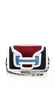 Color-Block Leather and Suede Shoulder Bag by Pierre Hardy Now Available on Moda Operandi