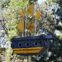 Birdhouse Functional Handmade Wood by BirdhousesByMichele on Etsy,