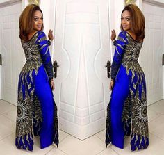 African print gown and pants set / African print wide leg pants / African clothing / Ankara dress / African dress / African dresses African Inspired Fashion, Latest African Fashion Dresses, African Print Dresses, African Print Fashion, Africa Fashion, African Wear, African Attire, African Women, African Dress