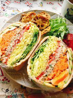 油揚げをパン代わりに!わんぱくサンド by misumisu07 [クックパッド] 簡単おいしいみんなのレシピが235万品