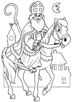 Santa& nicholas coloring page Coloring Pages For Grown Ups, Coloring Pages For Kids, Coloring Sheets, Coloring Books, Christmas Crafts For Kids, Christmas Colors, Primitive Colors, St Nicholas Day, Mary And Martha
