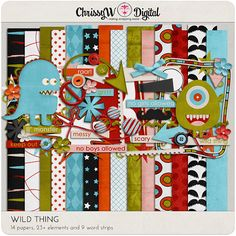 Wild Thing - Papers & Elements for Digital Scrapbooking
