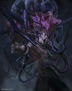 Distended Mindbender - Eldritch Moon MtG Art