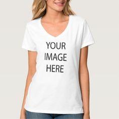 #template - #Create Your Own Women's Hanes Nano V-Neck T-Shirt