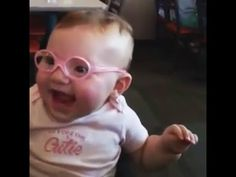 ADORABLE! Baby Gets Glasses, Sees Parents Clearly for First Time!!! we love you Piper!! God Bless you!!! xoxo