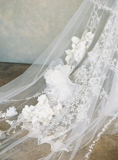 Details of the Claire Pettibone Gypsy Moon cape with floral embroidery and silk roses. The ultimate bridal accessory! Fairy Wedding Dress, Unique Wedding Gowns, How To Dress For A Wedding, V Neck Wedding Dress, Colored Wedding Dresses, Floral Wedding, Wedding Colors, Floral Lace, Wedding Ideas