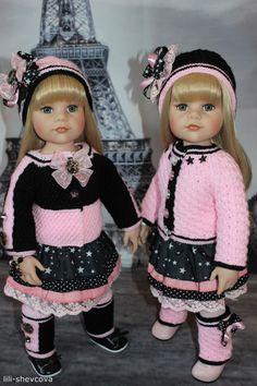 Наряд для близняшек, девочек Готц / Одежда и обувь для кукол своими руками / Бэйбики. Куклы фото. Одежда для кукол