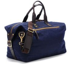 my weekend isn't ready to live up to my luggage yet.  Ernest Alexander Wax Canvas Weekend Bag