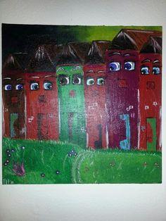 Holmehave-Art: Menneskelige huse