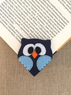 Owl bookmark. Soft felt accesories. Felt Corner bookmarks. Gifts for young…