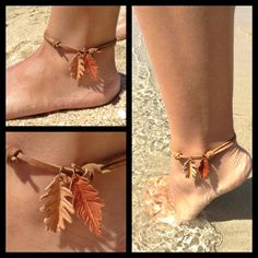 Beach, sand, water, sun, leather leaves...