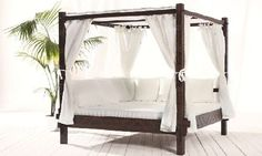 Ipanema baldacchino basso Daybed, Outdoor Furniture, Outdoor Decor, Club, Beautiful Things, Home Decor, Cabanas, City, Sleeper Sofa