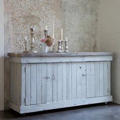 Rustic country distressed sideboard / buffet