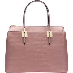 SheIn(sheinside) Pink Double Handle Zipper PU Shoulder Bag (€25) ❤ liked on Polyvore featuring bags, handbags, shoulder bags, pink, convertible purse, red hand bags, handbags purses, pink hand bags and red shoulder handbags
