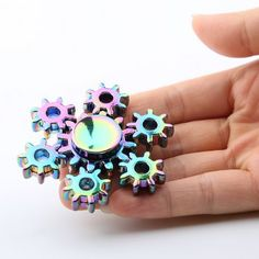 Colorful Rudder Shape Fidget Metal Spinner