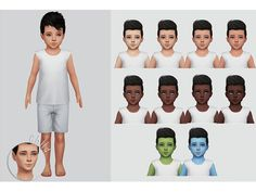 This beautiful skin is by Chisami. I just edited it to be more child friendly and converted it for toddler and child! It's perfect with any skin color! Even custom! Found in TSR Category 'Sims 4...