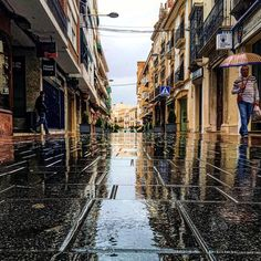 #Montilla #calle #corredera mojada por la #lluvia #twitter