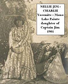 Yosemite Native American - Nellie Jim-Charlie Yosemite Indian - Mono Paiute 1901, via Flickr.
