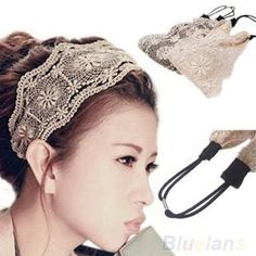 a4c7a35a544 Womens Lace Headband Retro Hair Band Wide Headwraps Hair Accessories  (white) Sanwood http